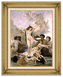 William Bouguereau The Birth Of Venus canvas with gallery gold wood frame