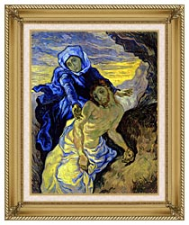 Vincent Van Gogh Pieta canvas with gallery gold wood frame