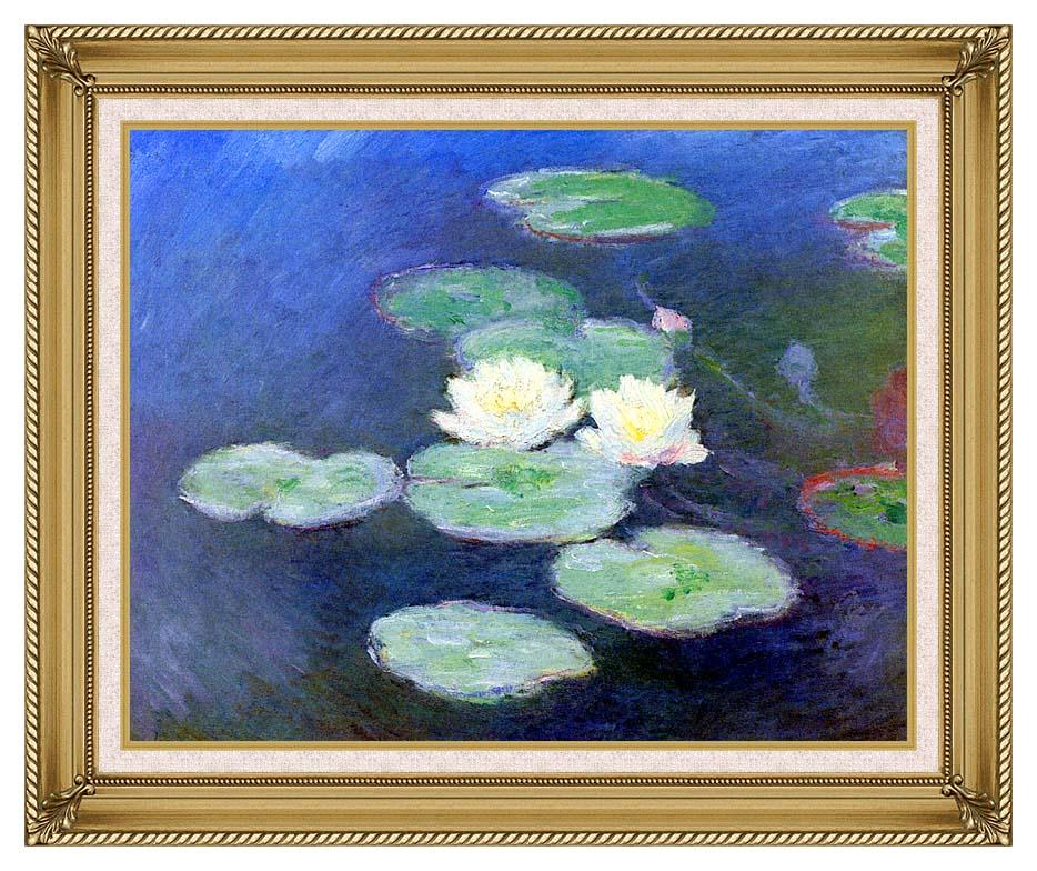 Claude Monet Nympheas, Effet du Soir with Gallery Gold Frame w/Liner