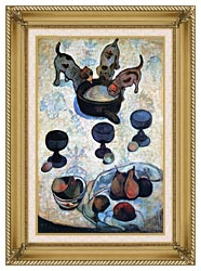 Paul Gauguin Still Life With Three Puppies canvas with gallery gold wood frame