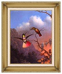 Martin Johnson Heade Hooded Visorbearer canvas with gallery gold wood frame