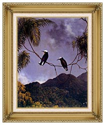 Martin Johnson Heade Snowcap Hummingbirds canvas with gallery gold wood frame