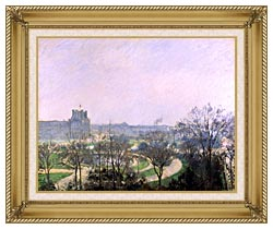 Camille Pissarro The Tuilieries Gardens canvas with gallery gold wood frame
