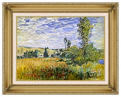 Claude Monet Vetheuil canvas with gallery gold wood frame
