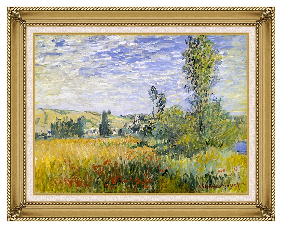 Claude Monet Vetheuil with Gallery Gold Frame w/Liner