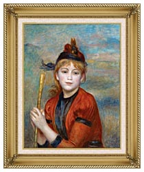 Pierre Auguste Renoir The Rambler canvas with gallery gold wood frame