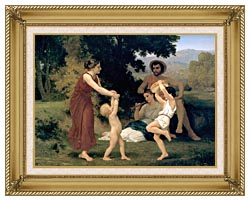 William Bouguereau Pastoral canvas with gallery gold wood frame