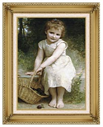 William Bouguereau Plums canvas with gallery gold wood frame
