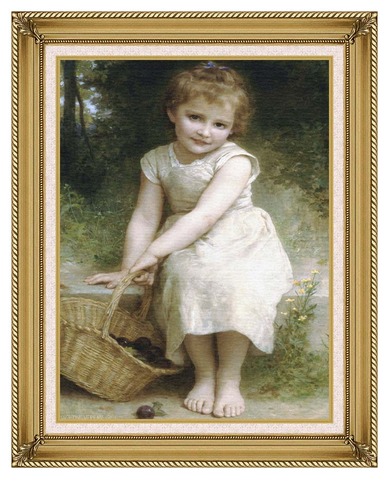 William Bouguereau Plums with Gallery Gold Frame w/Liner