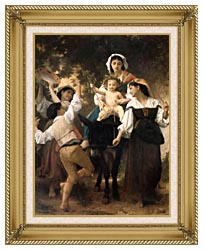 William Bouguereau Return From The Harvest canvas with gallery gold wood frame