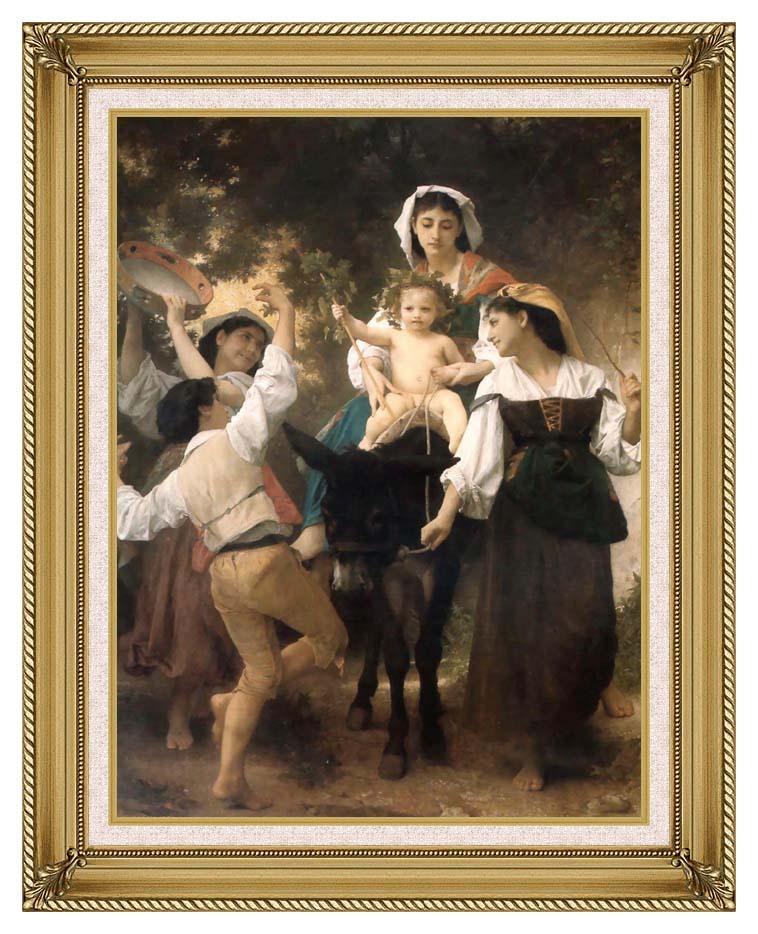 William Bouguereau Return from the Harvest with Gallery Gold Frame w/Liner
