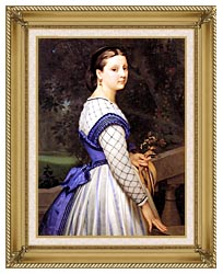 William Bouguereau The Countess De Montholon canvas with gallery gold wood frame