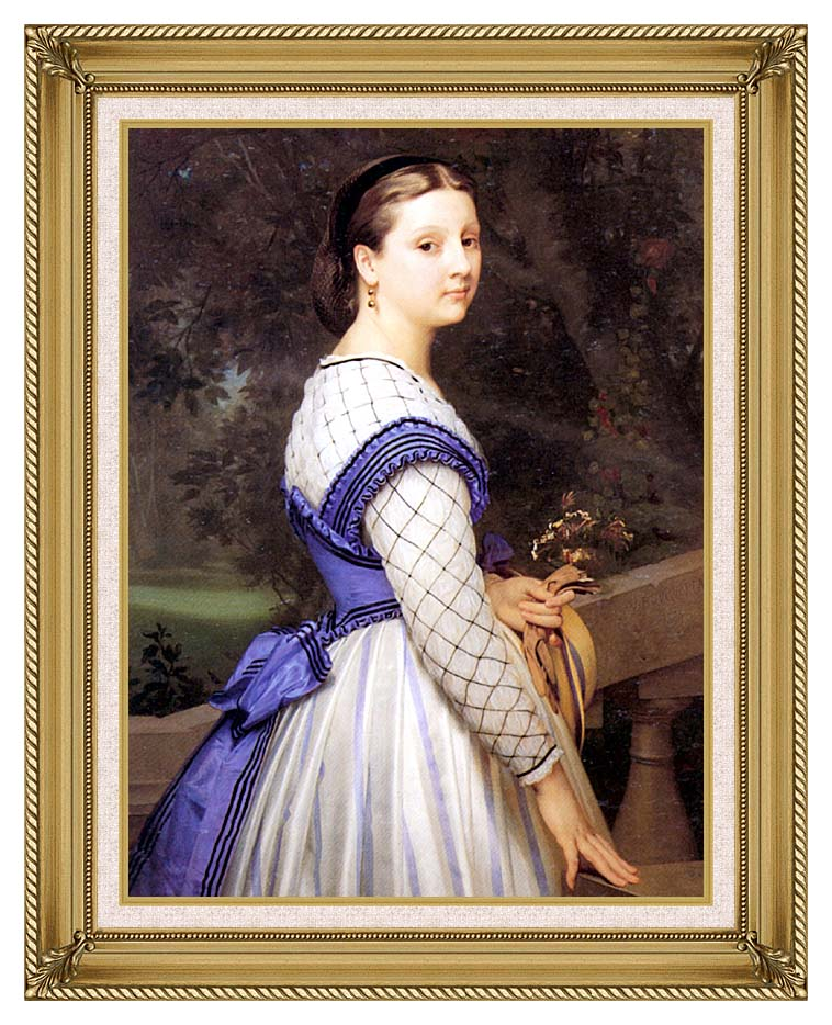 William Bouguereau The Countess de Montholon with Gallery Gold Frame w/Liner