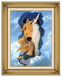 William Bouguereau The Dance canvas with gallery gold wood frame