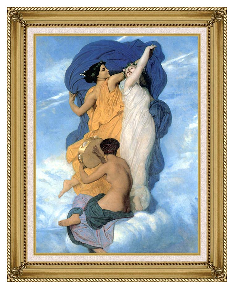 William Bouguereau The Dance with Gallery Gold Frame w/Liner