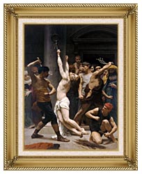 William Bouguereau The Flagellation Of Christ canvas with gallery gold wood frame