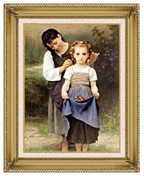 William Bouguereau The Jewel Of The Fields canvas with gallery gold wood frame
