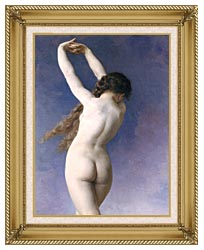 William Bouguereau The Lost Pleiad Detail canvas with gallery gold wood frame