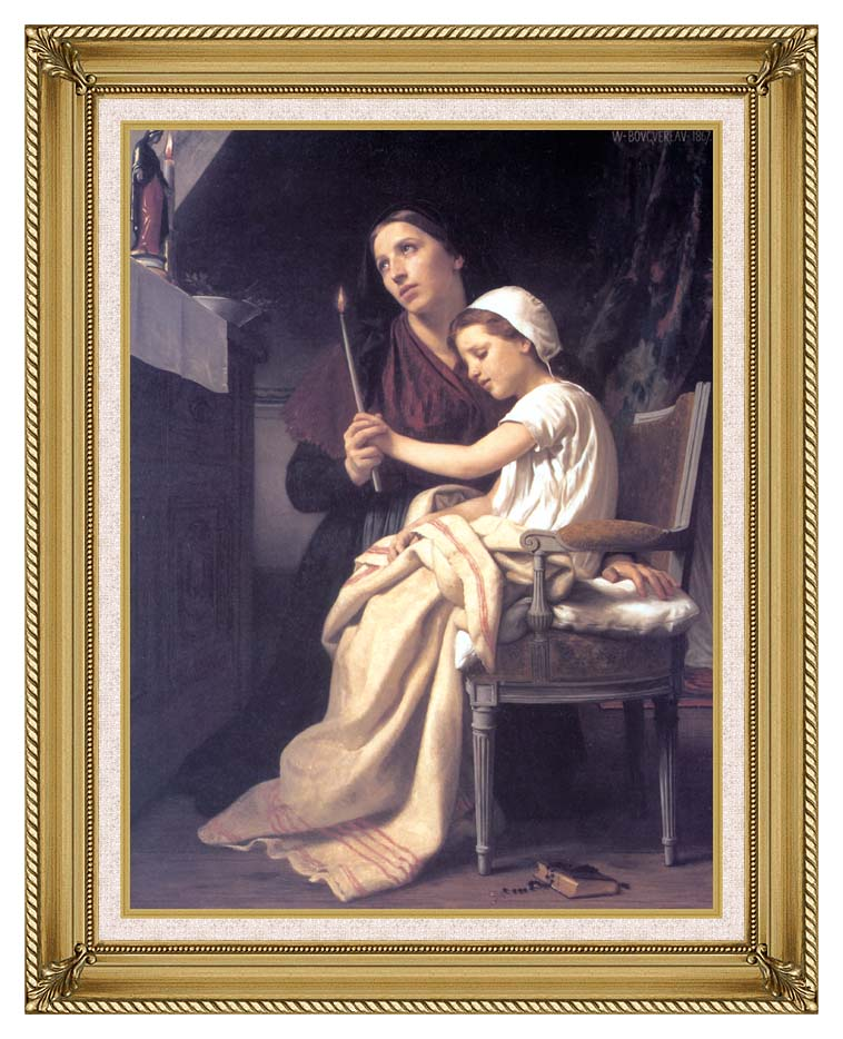 William Bouguereau The Thank Offering with Gallery Gold Frame w/Liner