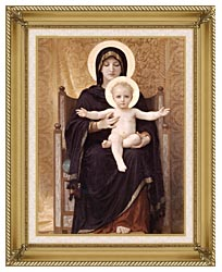 William Bouguereau Virgin And Child canvas with gallery gold wood frame