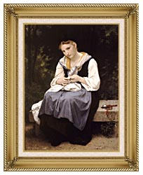 William Bouguereau Young Worker canvas with gallery gold wood frame