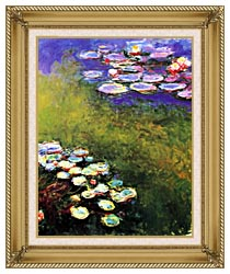 Claude Monet Monet Water Lilies canvas with gallery gold wood frame
