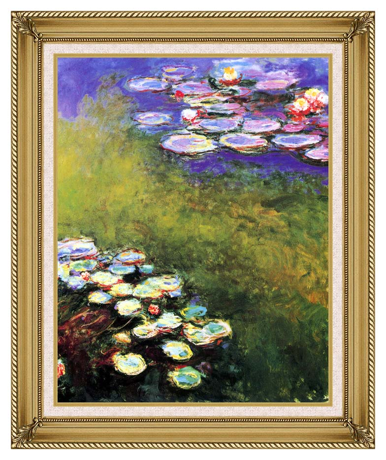 Claude Monet Monet Water Lilies with Gallery Gold Frame w/Liner