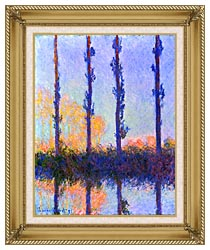 Claude Monet The Poplars canvas with gallery gold wood frame