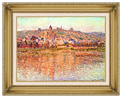Claude Monet Vetheuil In Summertime canvas with gallery gold wood frame