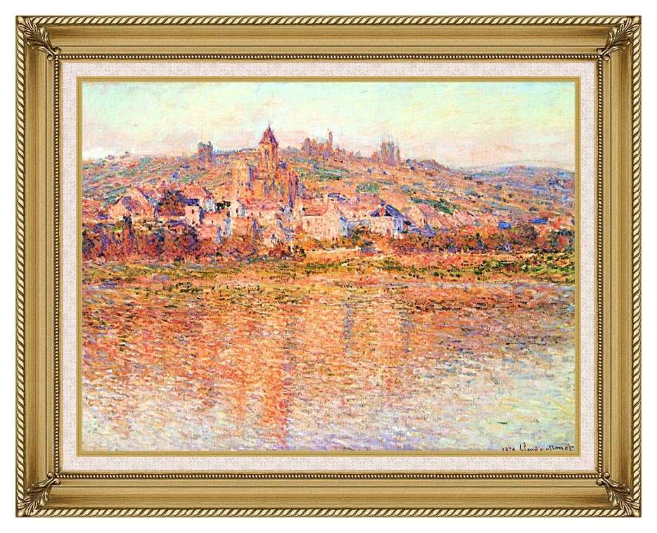 Claude Monet Vetheuil in Summertime with Gallery Gold Frame w/Liner