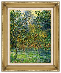 Claude Monet Under The Lemon Trees Bordighera canvas with gallery gold wood frame