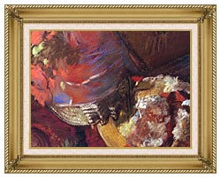 Edgar Degas At The Milliners Detail canvas with gallery gold wood frame