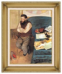 Edgar Degas Diego Martelli canvas with gallery gold wood frame