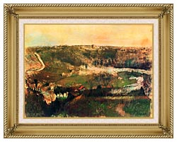 Edgar Degas Landscape canvas with gallery gold wood frame