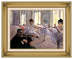 Edgar Degas Rehearsal canvas with gallery gold wood frame