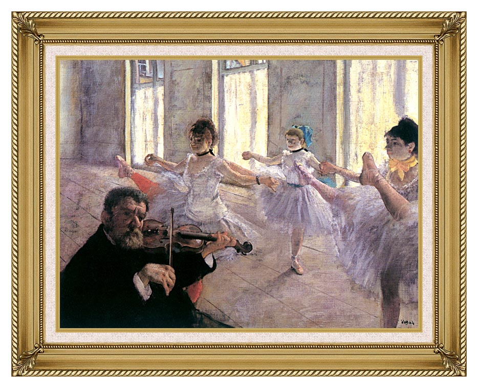 Edgar Degas Rehearsal with Gallery Gold Frame w/Liner