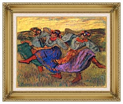 Edgar Degas Russian Dancers canvas with gallery gold wood frame