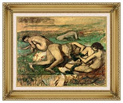 Edgar Degas The Bathers canvas with gallery gold wood frame