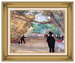 Edgar Degas The Curtain canvas with gallery gold wood frame