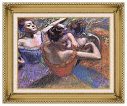 Edgar Degas The Dancers canvas with gallery gold wood frame