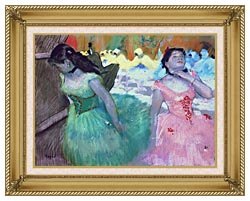 Edgar Degas The Entry Of The Masked Dancers canvas with gallery gold wood frame