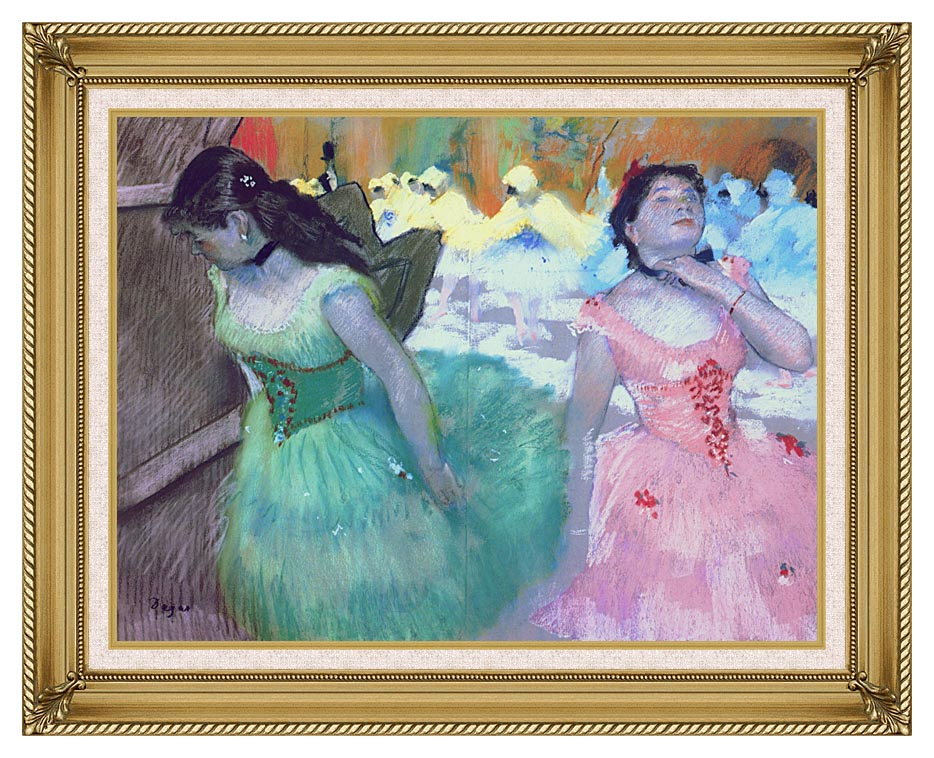 Edgar Degas The Entry of the Masked Dancers with Gallery Gold Frame w/Liner