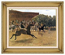 Edgar Degas The False Start canvas with gallery gold wood frame