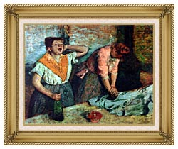 Edgar Degas The Laundresses canvas with gallery gold wood frame