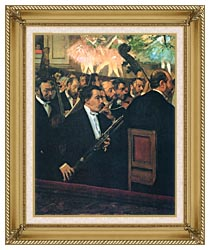Edgar Degas The Orchestra Of The Opera canvas with gallery gold wood frame