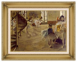 Edgar Degas The Rehearsal canvas with gallery gold wood frame