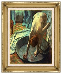 Edgar Degas The Tub Detail canvas with gallery gold wood frame