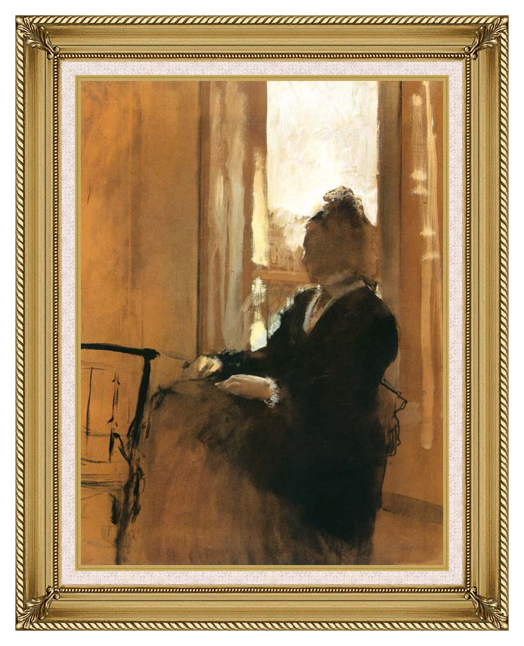 Edgar Degas Woman at a Window with Gallery Gold Frame w/Liner