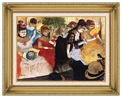 Edgar Degas Cafe Concert canvas with gallery gold wood frame