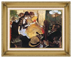 Edgar Degas Cafe Concert Right Detail canvas with gallery gold wood frame